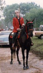 Brenda and Beauty at Fayetteville, Arkansas in 1990