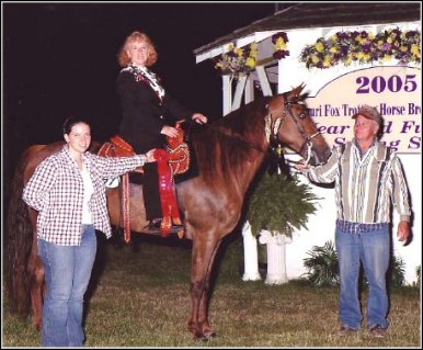 Lad's Red Rebecca Z. winning Reserve in the Ladies Class 