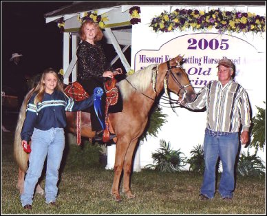 Image's Smoky Topaz Z. placed first in the Open Two Year Old Class at the Spring Show & Three Year Old Futurity in 2005